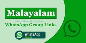 Malayalam WhatsApp Group Links