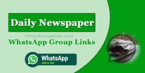 Daily Newspaper WhatsApp Group