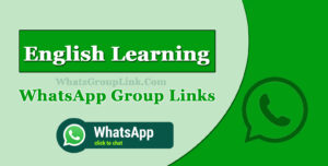 English Learning WhatsApp Group Link
